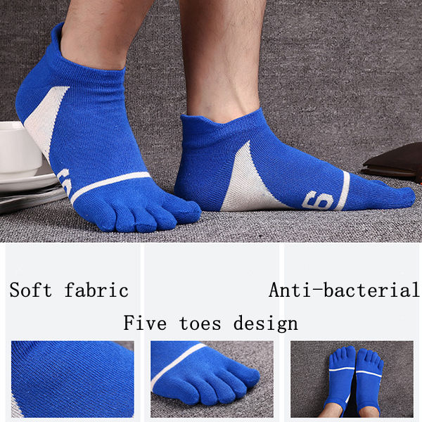 Five Toes Socks Deodorant Anti-bacterial Breathable Socks Sports Casual Anklet Socks