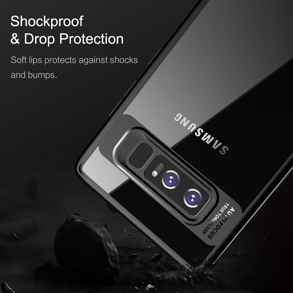 Bakeey Clear Transparent Anti Fingerprint Case For Samsung Galaxy Note 8