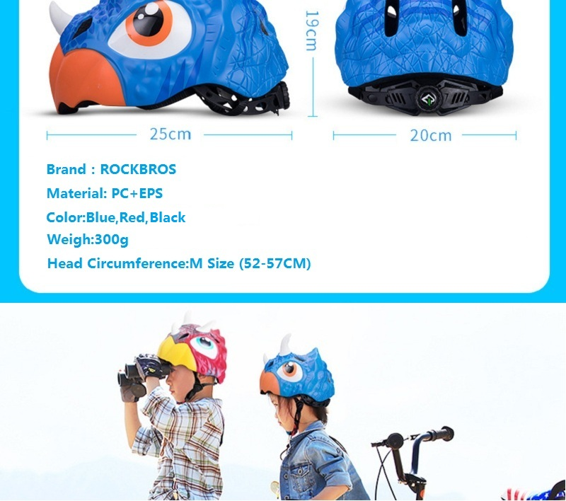 ROCKBROS 52-57CM Children Riding Helmets Child Wheels Sliding Kids Cartoon Half Helmet Bicycle Helmet