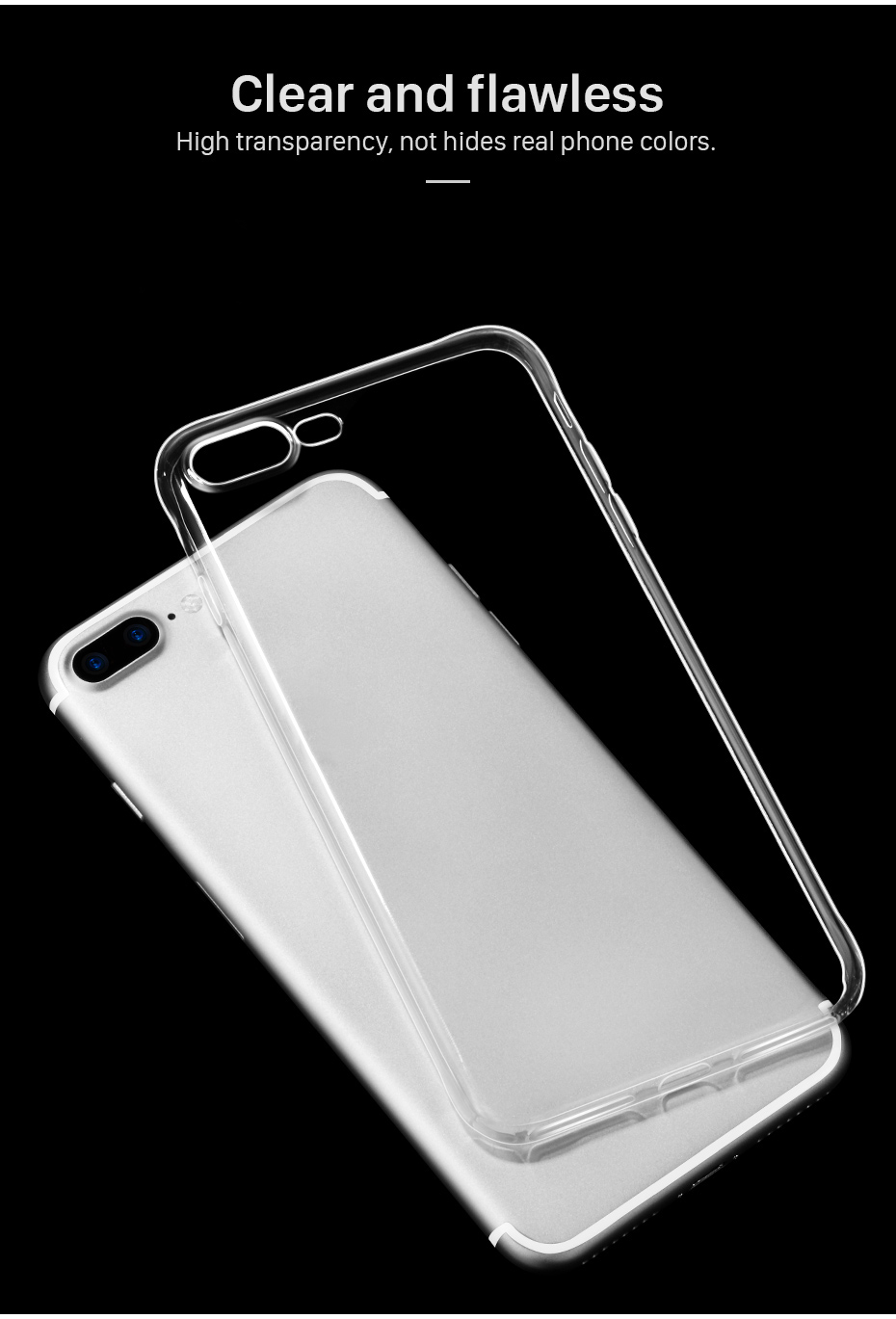 Bakeey™ 4D Curved Edge Tempered Glass Film With Transparent TPU Case for iPhone 7Plus