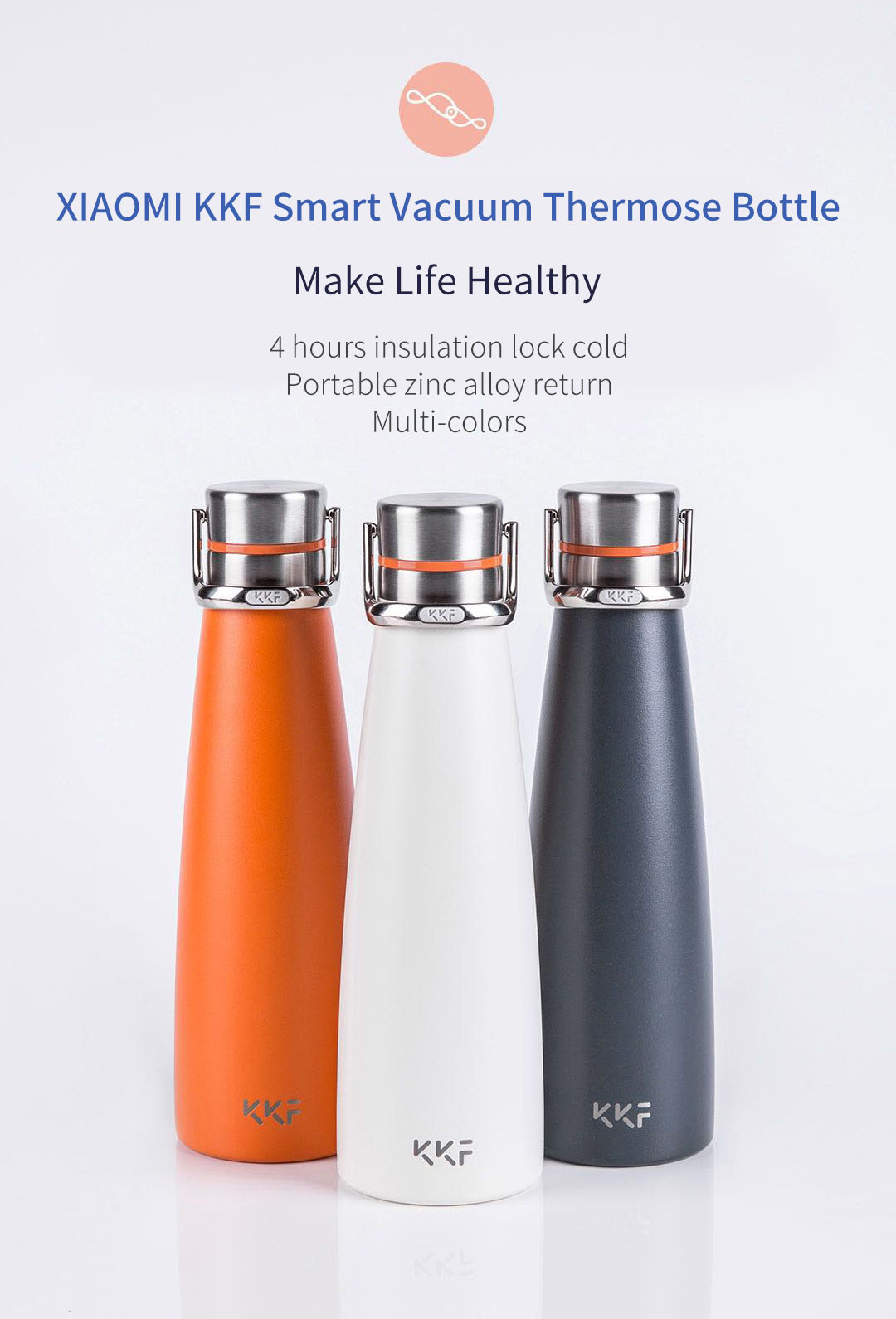 KISSKISSFISH SU-47WS 475M Vacuum Thermos Water Bottle Thermos Cup Portable Water Bottles
