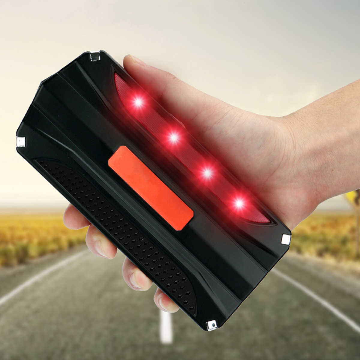 18000mAh 12V Car Jump Starter Power Bank Rechargable Battery 4USB Multi-Function
