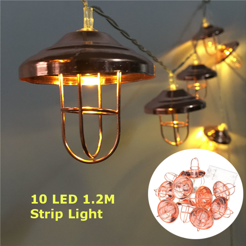 Battery Powered 10LEDs Vintage Lantern Shaped outdoor Warm White Fairy String Light For Christmas