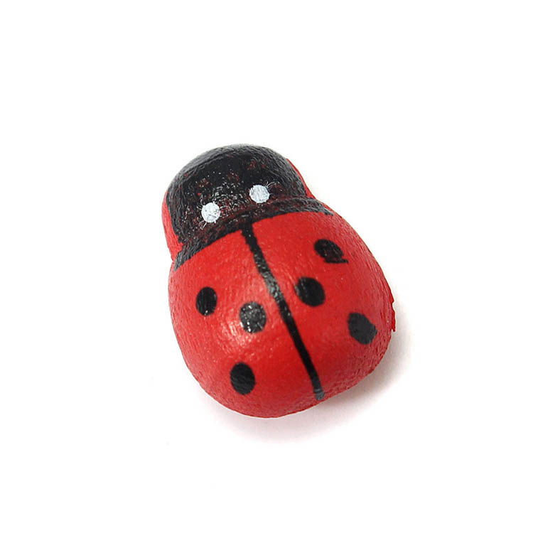 10pcs Moss Micro Landscape Wooden Red Ladybug Garden Flower Pot DIY Decor