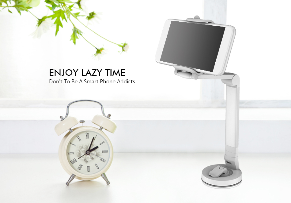 Multifunctional Long Arm Lazy Holder 360 Degree Rotation Car Dashboard Mount Desktop Phone Stand
