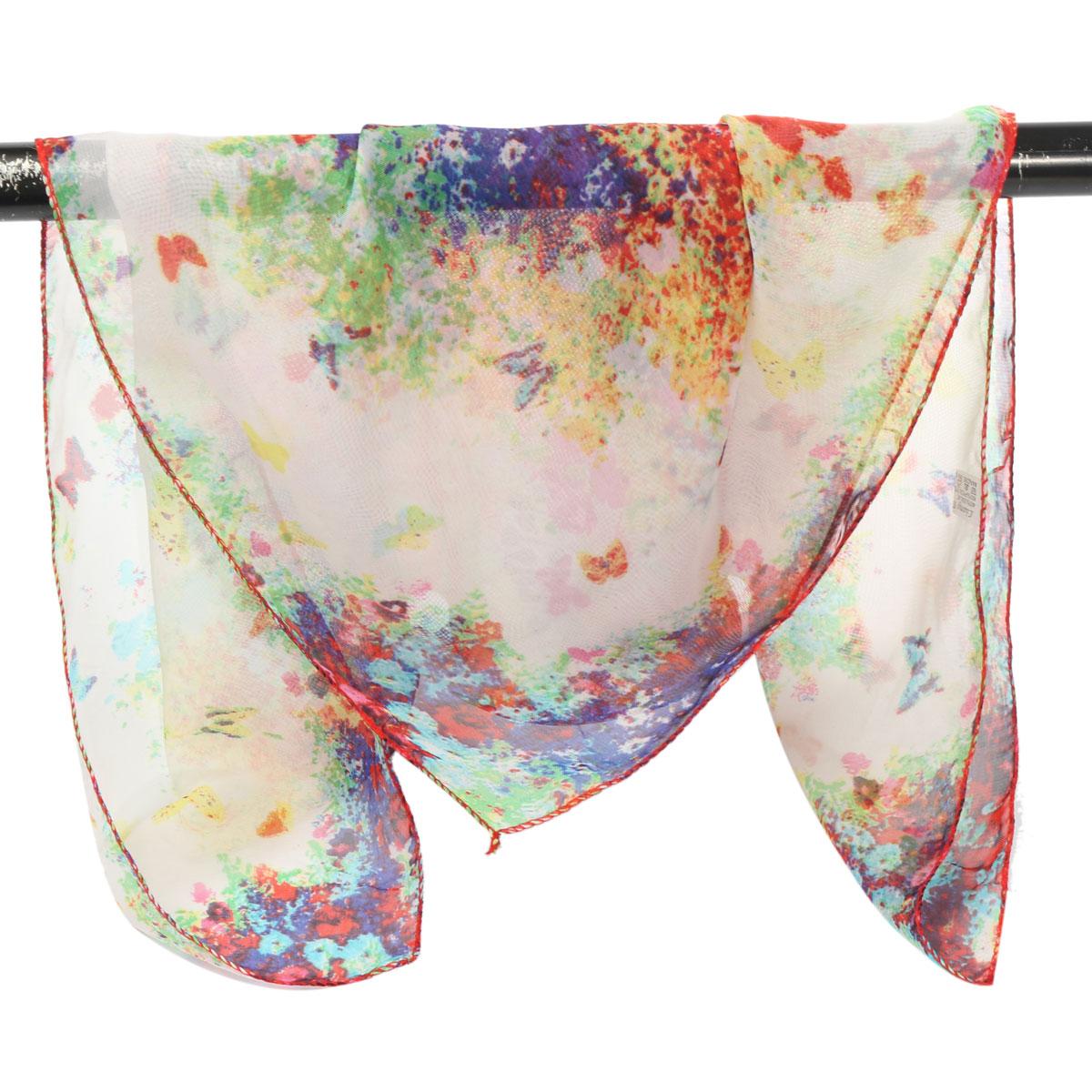 60x60cm Women Soft Flower Chiffon Small Square Scarf Scarves Bandanas Neck Accessories