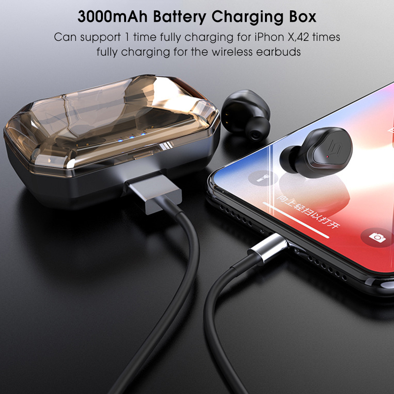[bluetooth 5.0] TWS True Wireless Earphone CVC6.0 Noise Cancelling 3000mAh Charging Box Power Bank