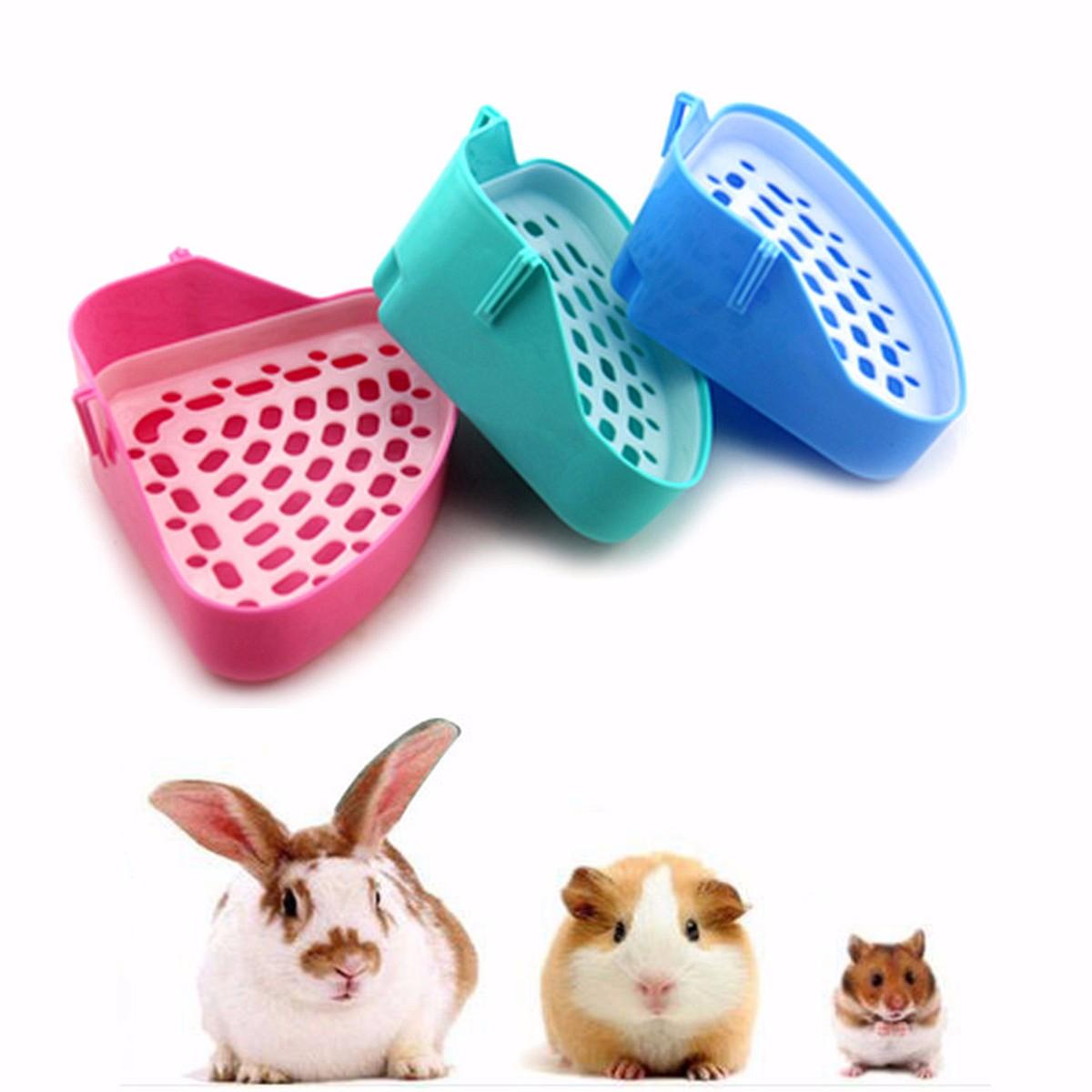 Corner Toilet Litter Pee Tray For Animal Cat Kitten Rabbit Hamster Guinea Pig Toilet