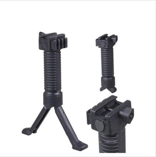Military Simple Tactical RIS Fore Grip Bipod Pod Picattinny Weaver Rail Foregrip for 20mm Rail Shaft