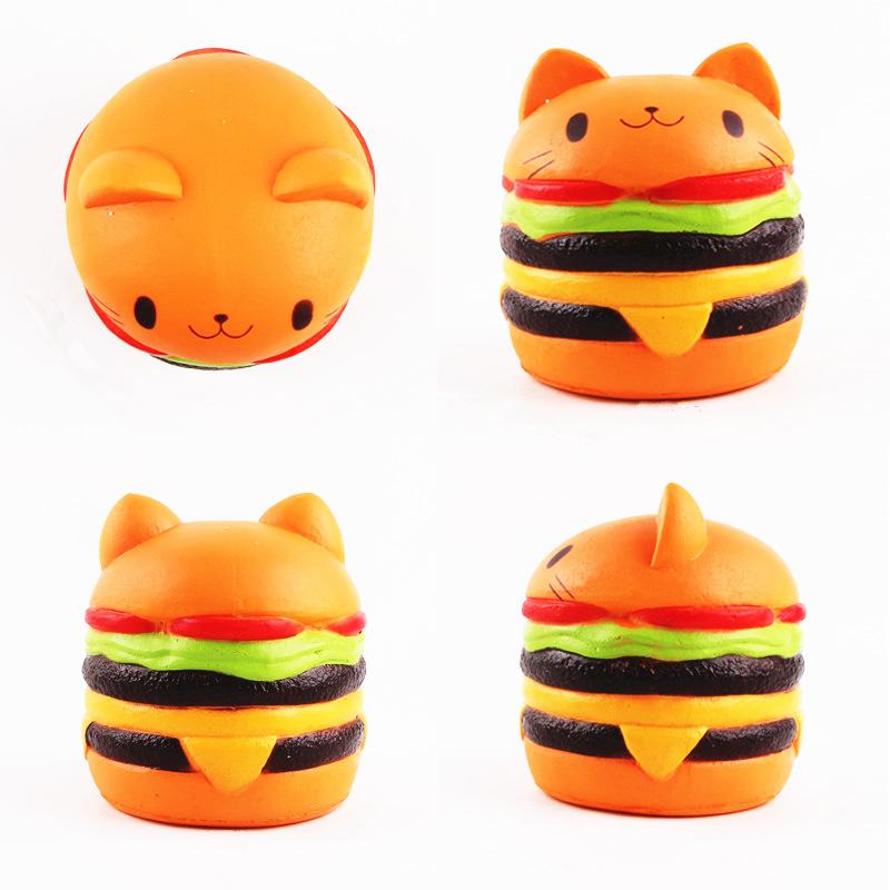 Sanqi Elan Squishy Cat Burger 11*10CM Slow Rising Soft Animal Collection Gift Decor Toy Original Packaging