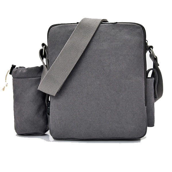 Multifunctional Canvas Crossboby Bag Solid Casual Women Men Sling Bag