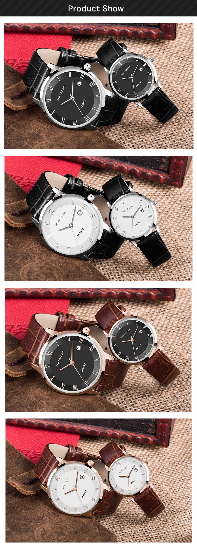 SANDA P188 Leather Men Watch