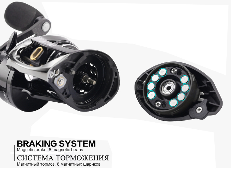 SeaKnight POTM 11+1BB 7.6:1 Carbon Fiber Baitcasting Fishing Reel Max 5KG Sea Fishing Wheel