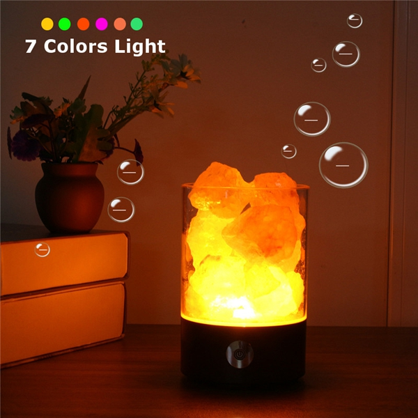 Himalayan Salt Lamp Pink Salt Rock Crystal Night Light With Touch Dimmer Switch