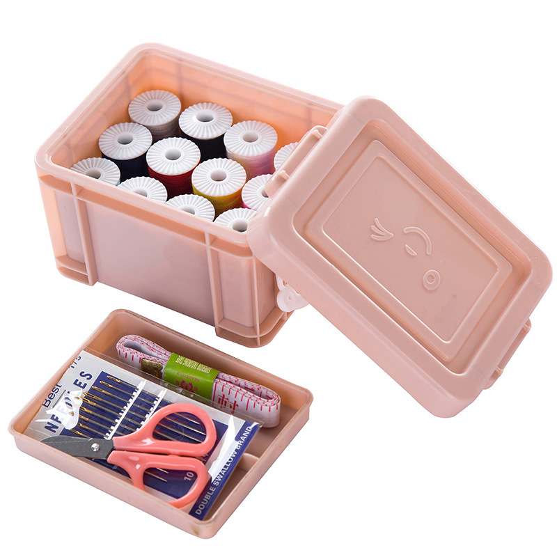 Honana KT-36 15PCS/Set Multifunction Portable Sewing Box Sewing Thread Stitches Needles Tool Set Craft Scissor Travel Sewing Kit Case Storage