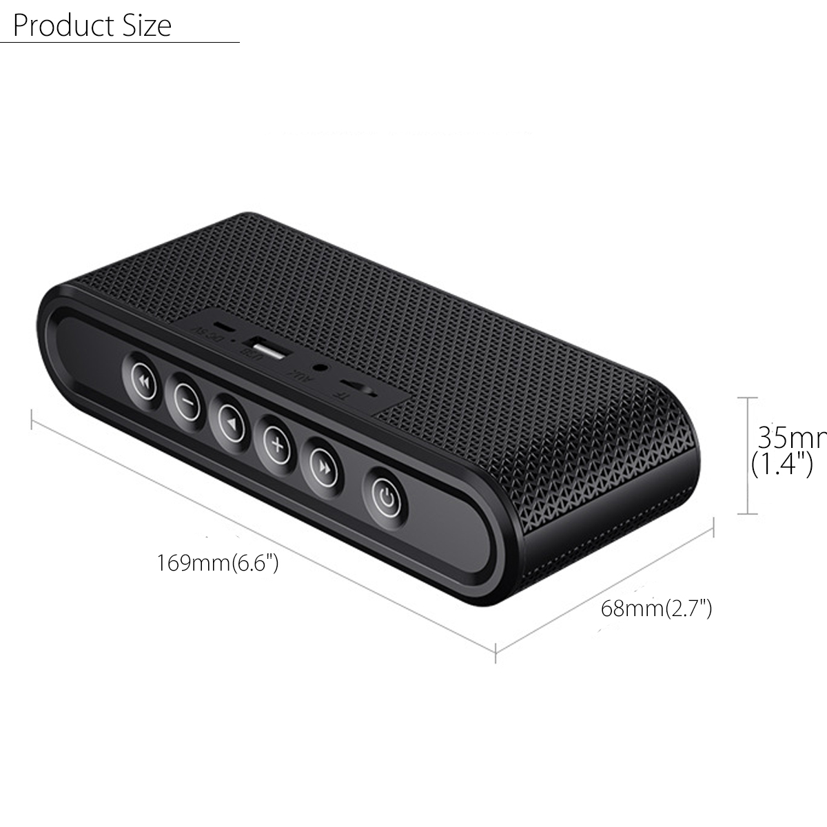 X6 Mini Portable Bluetooth Wireless Speaker Touch Control Bass Stereo AUX USB TF