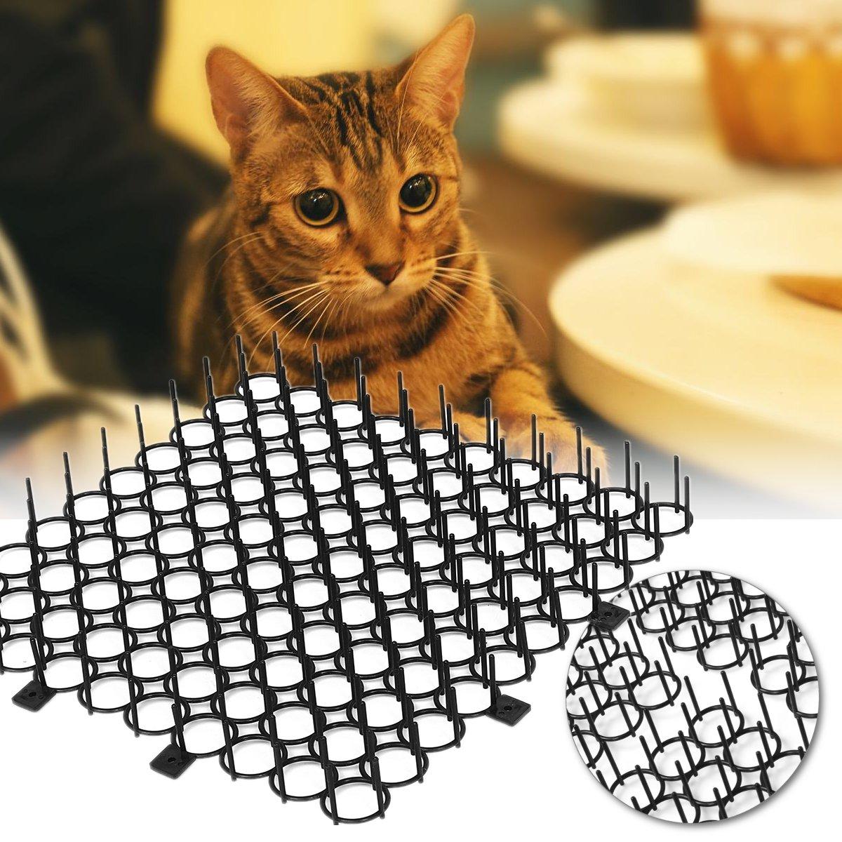 4Pcs / Set Anti Cat Pad Hage Klatre Prickle Wall Window Repellent Strip 22x22cm