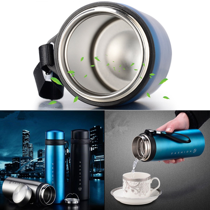 650/900ml Stainless Steel Vacuum Flask Water Bottle The