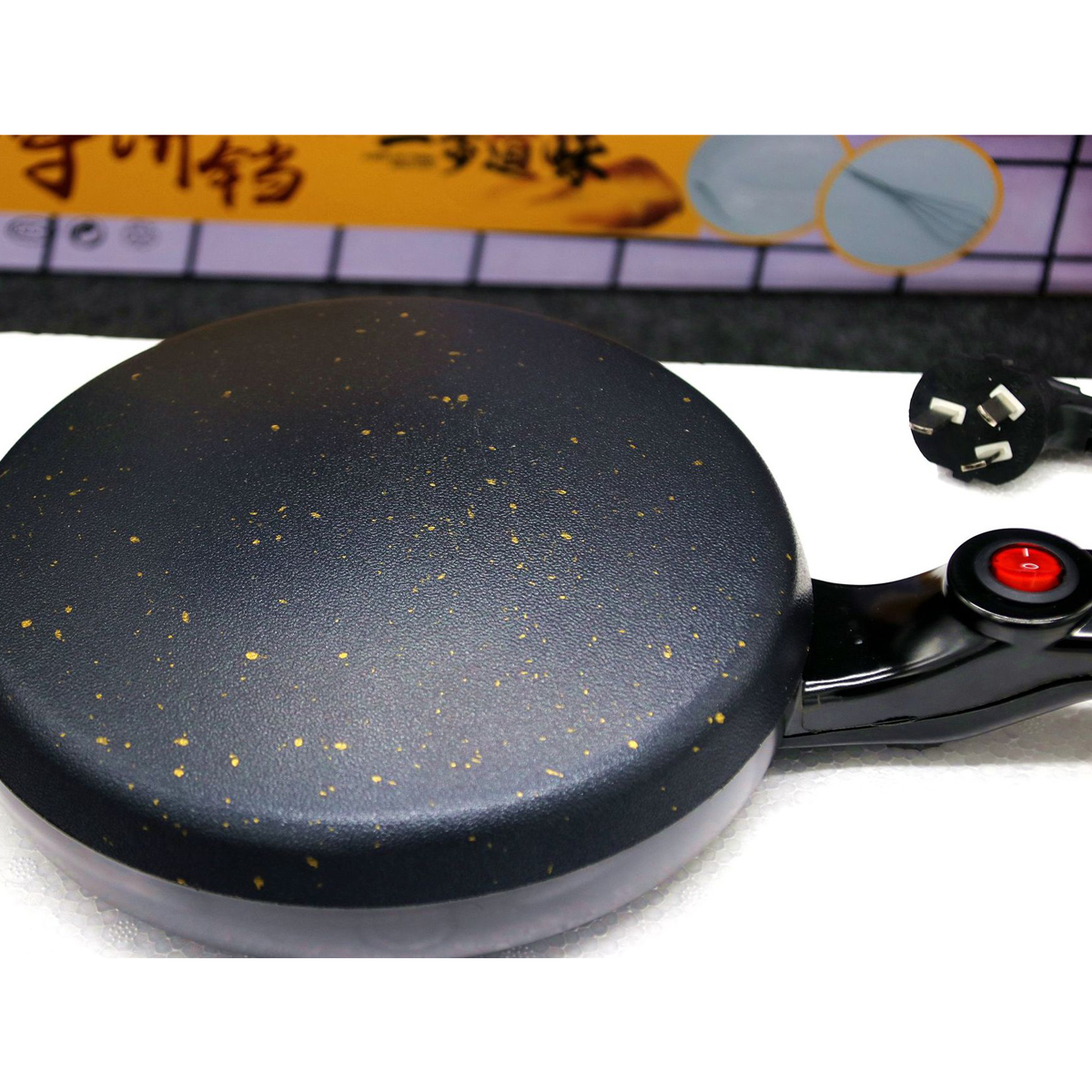 Image of 600WKücheElektrischePfannkuchenPfannkuchenBacken Crepe Maker Kuchen Pan Pizza Maschine