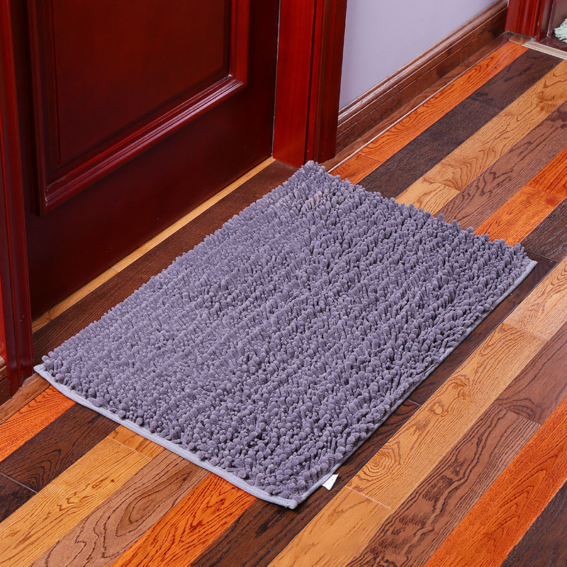 KCASA KC-332 40x60cm Chenille Mixed Hair Soft Mat Machine Washable Bathroom Anti Slip Absorbent Carpet Doormat
