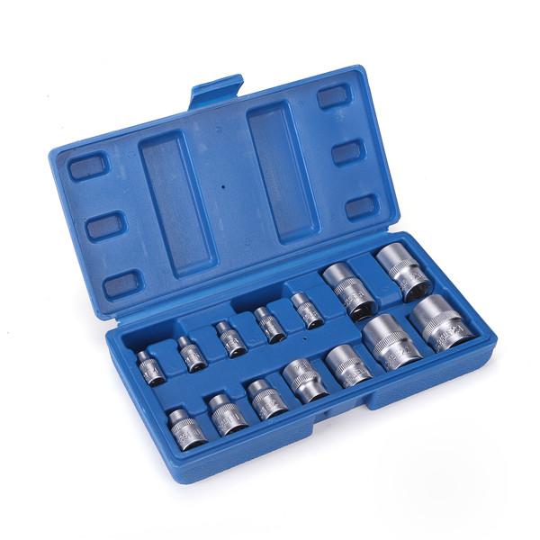 14pcs Tamper Proof E4-E24 Torx Star Bit Socket Set Female E Type Socket