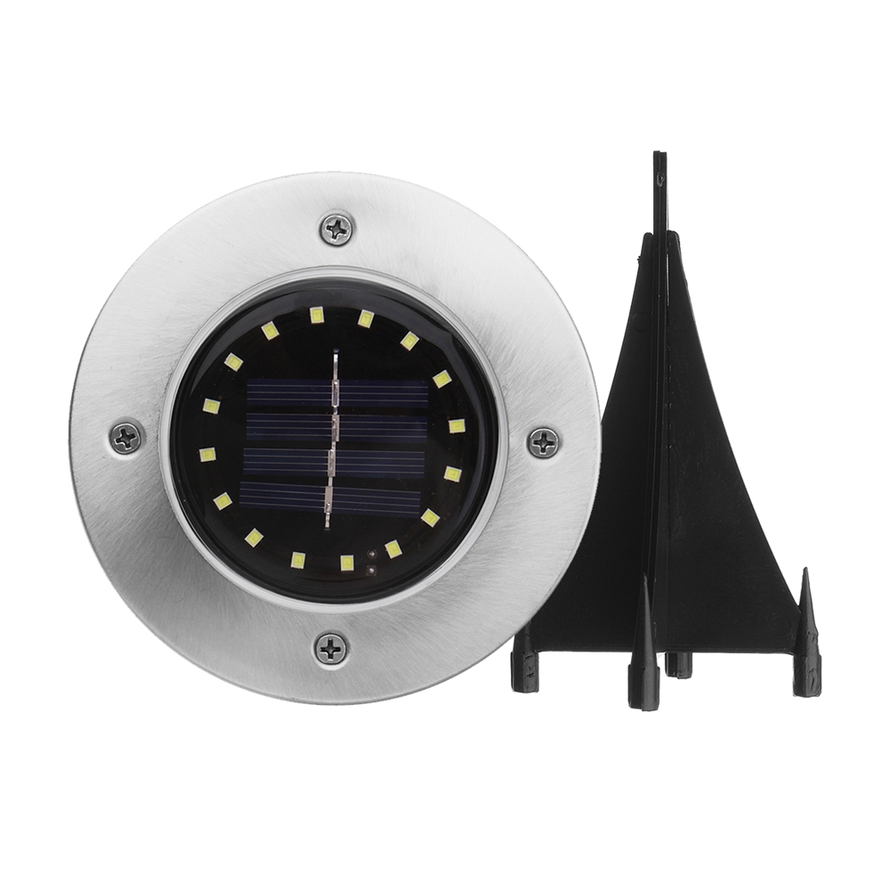 Solar Powered 16 LED Buried Light Under Ground Lamp Outdoor Pathway Garden Decor