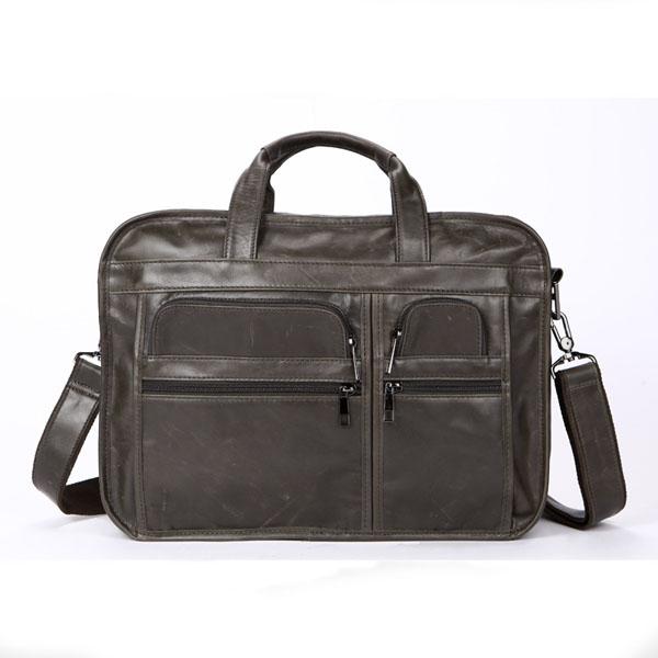Men Genuine Leather 3 Main Bags Laptop Messenge