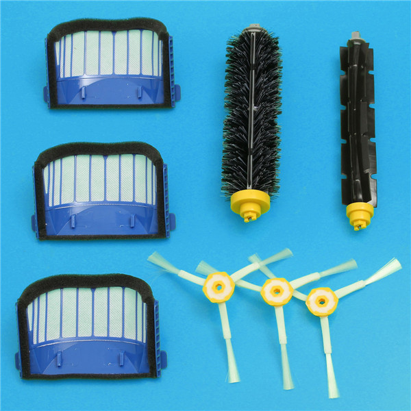 8pcs Replacement Brush Filter Kit for iRobot Roomba 600 Series Vacuum Cleaner Accessories Replacement