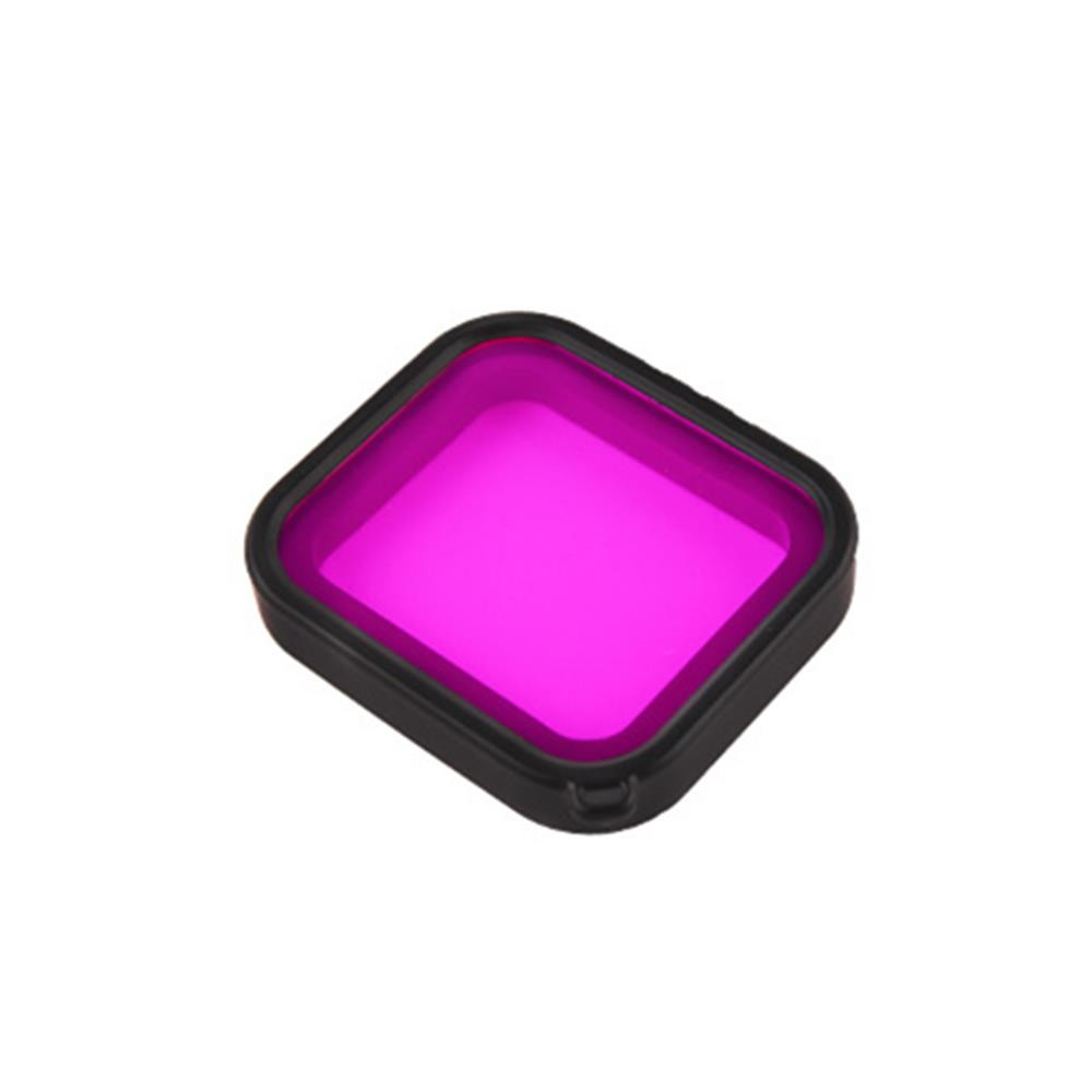 Diving Filter for GoPro Hero 7/6/5 Cover Lens Filter Cap Red/Pink/Purple Filter For Go Pro Accessory