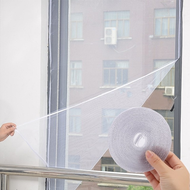 Honana WX-318 White Insect Mosquito Door Window Mesh Screen Sticky Nylon Tape Net