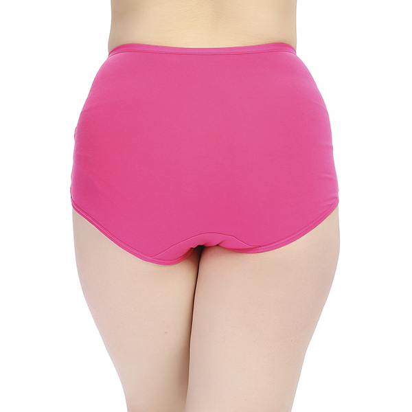 Stretched High Waist Abdomen Shapping Natural Cotton Briefs Hiphugger