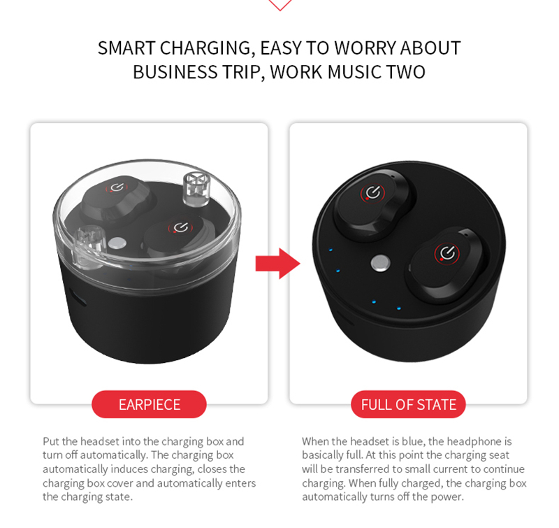 [Truly Wireless] WA01 bluetooth Earphone Headphone With Charger Box DSP Noise Cancelling