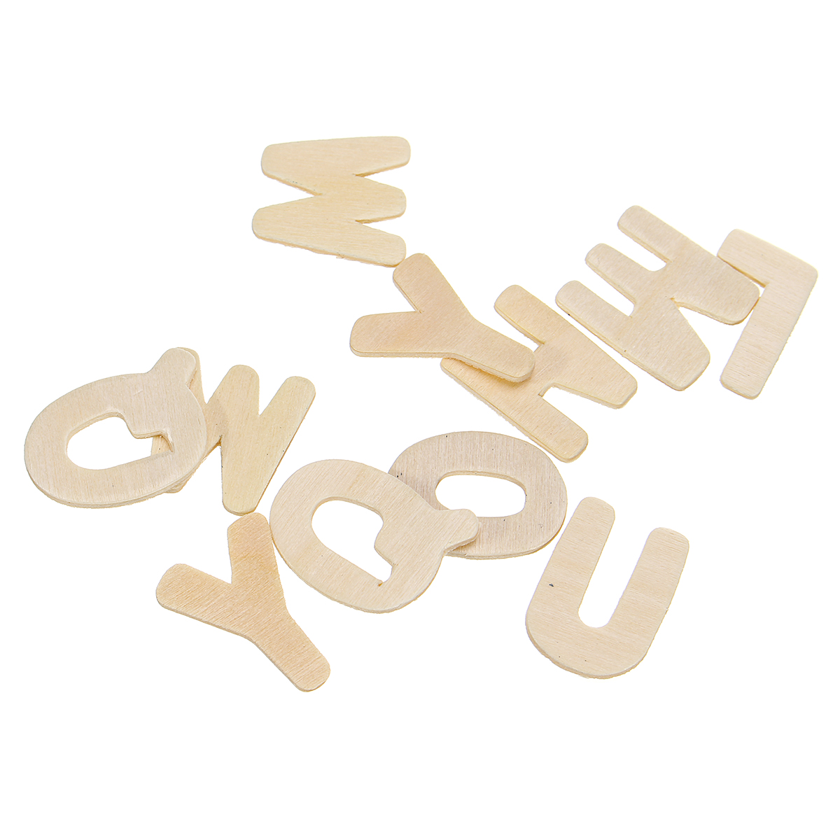 156X Wooden Scrabble Tiles Letters Puzzle Blocks Crafts Wood Alphabet Kids Early Education Toys Gift
