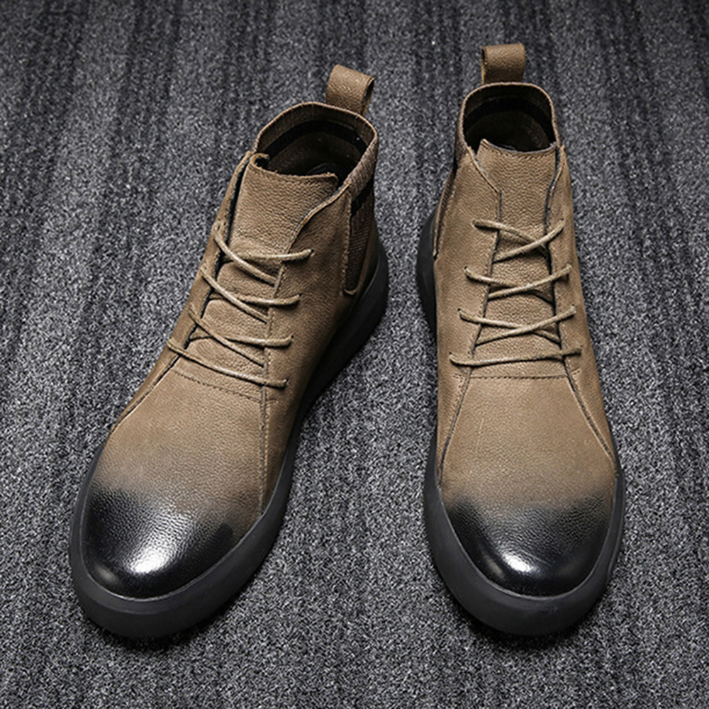 Retro Stylish Casual Soft Leather Ankle Boots