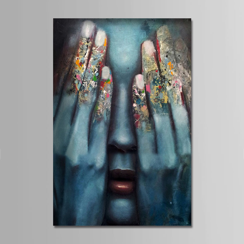 Hand Painted Oil Paintings People Comtemporary Simple Modern Stretched Canvas Wall Art For Home Decoration