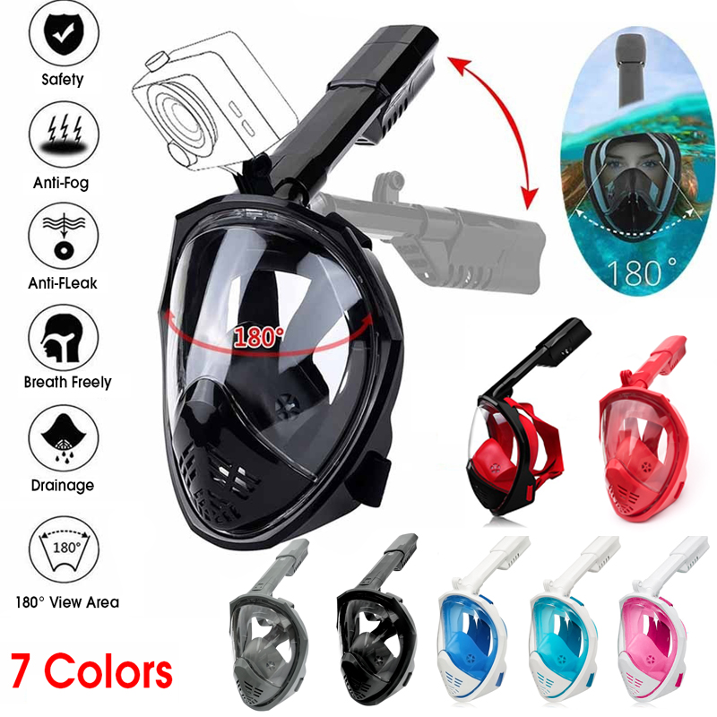 S/M/L/XL Foldable Adjustable Anti Fog Fully Dry Diving Mask