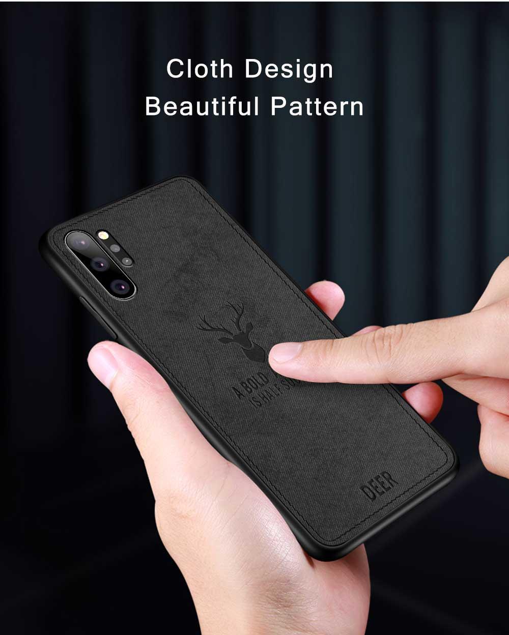 Bakeey Fabric Cloth Anti Fingerprint Protective Case For Samsung Galaxy Note 10 Plus/Note 10+ 5G