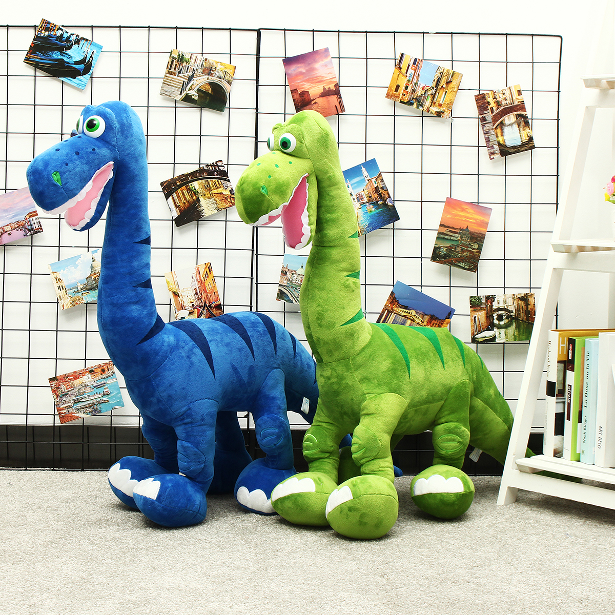 Blue/Green Dinosaur Doll Plush Cute Large Toys Animal Stuffed Soft Pillow Baby Kids Gift