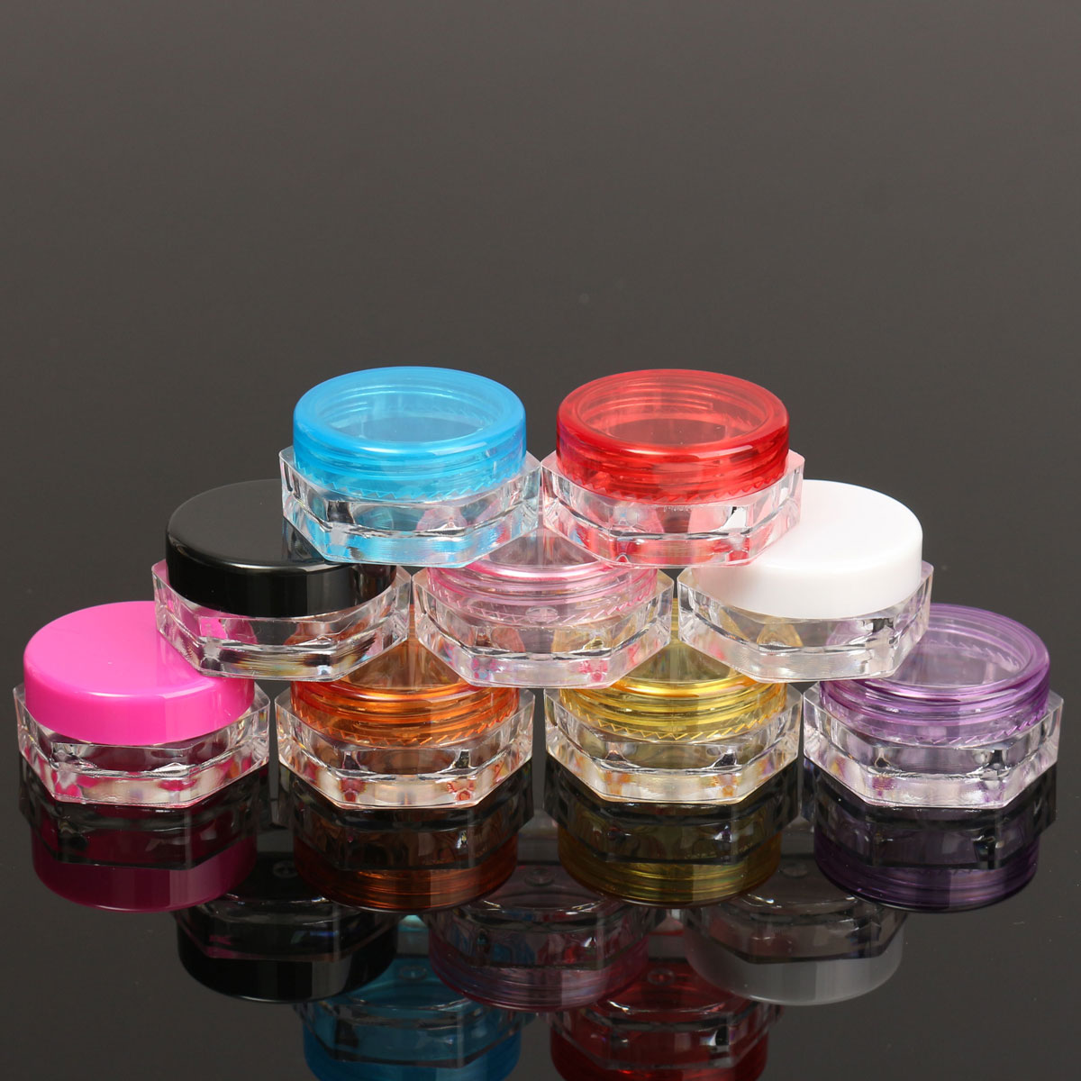 Cosmetic Empty Jar Pot Eyeshadow Makeup Face Cream Container