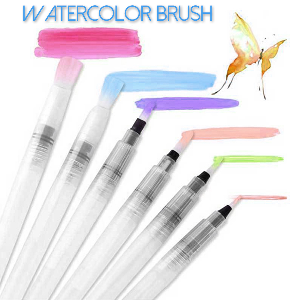 Shuanglei mb-96 Water Color Painting Brush Pens Soft Nylon Hair Brush For Beginner Painting Drawing Writing Brush Art Supplies Gifts 3/6 Pcs/pack