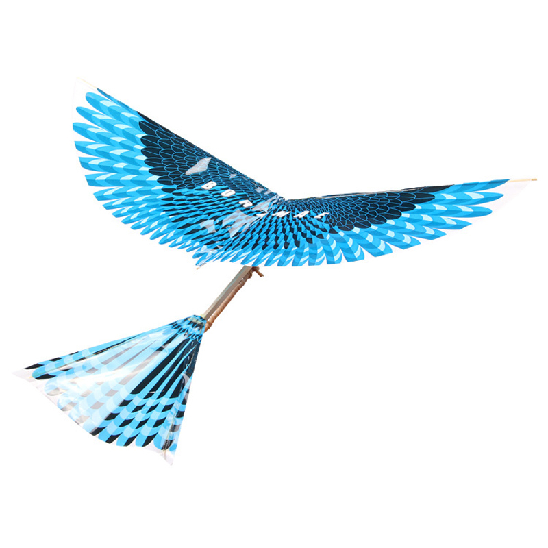17.5Inches Bionics Eagle Flight Birds Assembly Flapping Wing DIY Model Aircraft Plane Toy