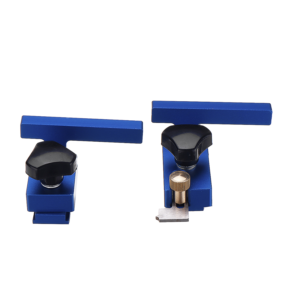 Blue Aluminum Alloy Miter Track Stop for 30/45 T-Slot T-Track Woodworking Tool