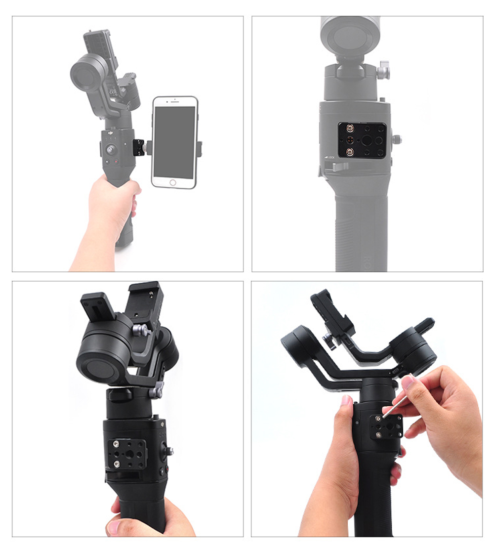 STARTRC Ronin SC Adapter Mount/Cold-Shoe Adapter/Extended Longboard Sets For DJI Ronin-SC Handheld Gimbal Stabilizer - Photo: 4
