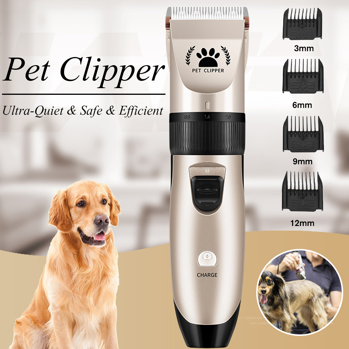 8 In 1 Dog cat hair clipper Electrical Trimmer Grooming Tool