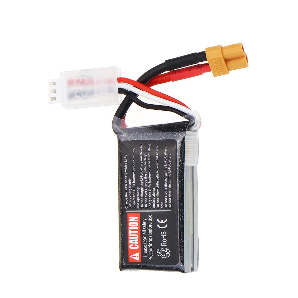 URUAV 7.4V 350mAh 120C 2S Lipo Battery XT30 Plug for Beta75X RC Drone FPV Racing - Photo: 3