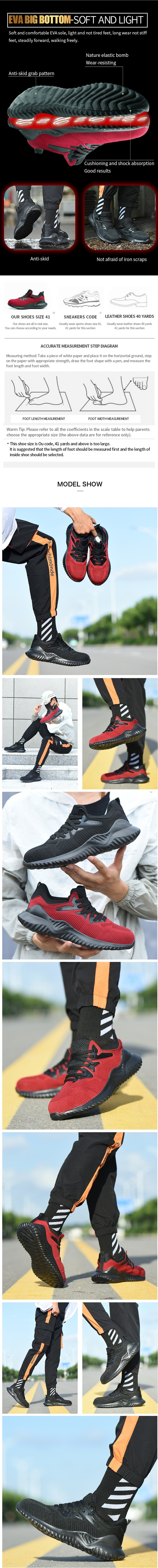 TENGOO Air-B Ultralight Fly Woven Safety Shoes Hiking Steel Toe Work Safety Mesh Anti-slip Anti-Collision Climbing Running Ball Shoes