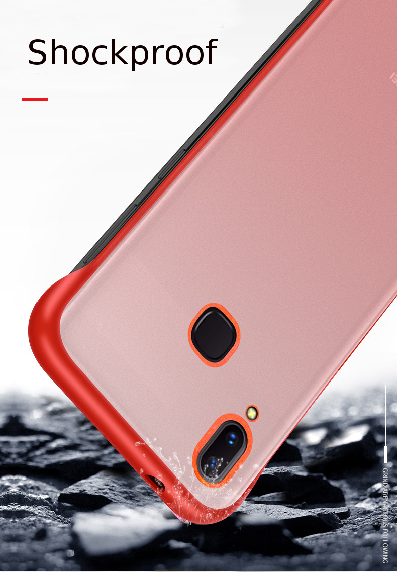 Bakeey Transparent Ultra Thin Anti Fall Matte Hard PC&Soft Edge With Finger Ring Protective Case For Xiaomi Redmi Note 7