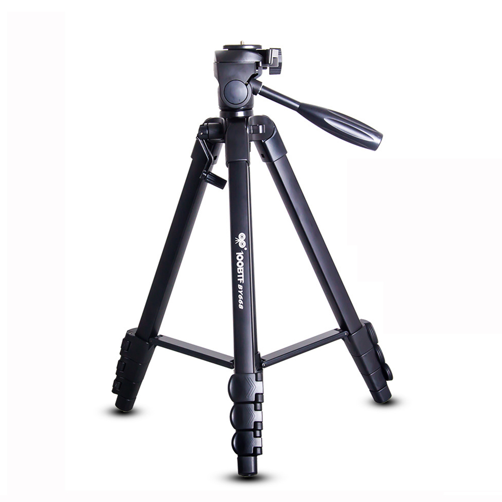 100BTF BY668 Foldable 46CM 154CM Tripod with Removable Ball Head Quick Release Plate Max Load 10KG