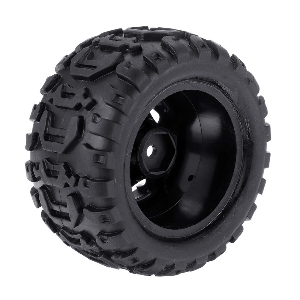 2PCS Tires & Wheels Rims for HBX 16889 1/16 RC Car Vehicles Spare Parts M16038 - Photo: 4