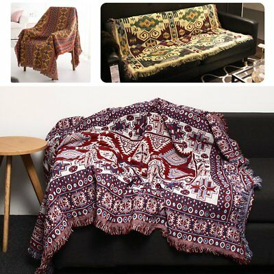 90x240cm Bohemian Cotton Sofa Bed Throw Blanket Bedspread Chair Settee Cover Bedding Sets